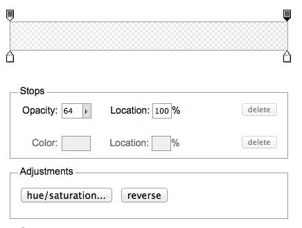 Panel para la elección de las opciones para generar tu gradiente css