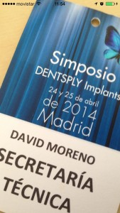 Acreditación para el Simposio DENSTPLY Implants