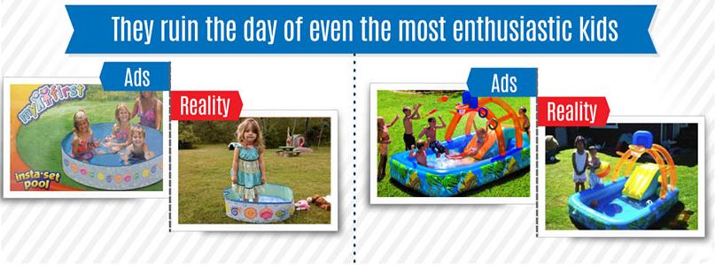 Comparativa de imágenes en productos para niños