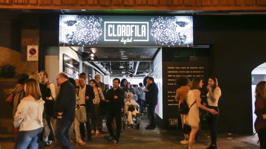 Entrada a Clorofila Digital en Madrid en la presentación de EVOLUTIONS