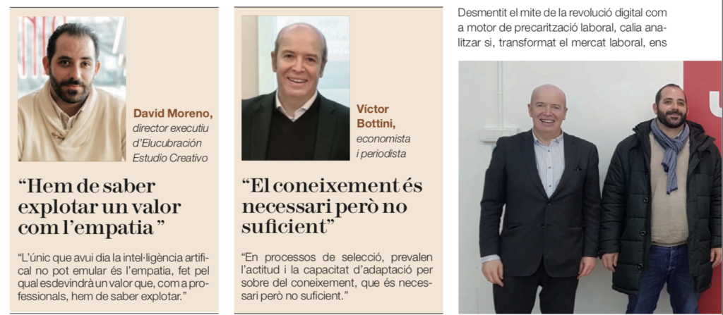 Transformación digital, captura de pantalla del artículo en la Revista del Colegio de Economistas