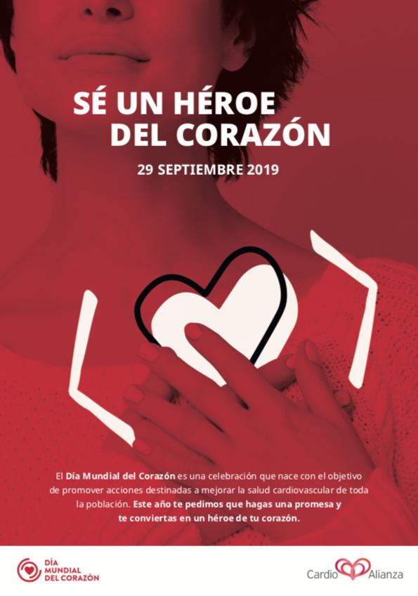 Flyer Día Mundial del Corazón, Frontal
