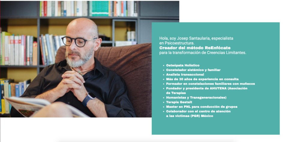 Landing web Josep Santaulària