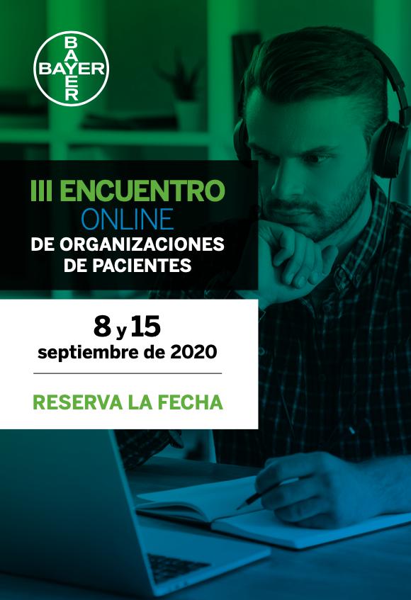 Frontal programa III Encuentro online de Organizaciones de Pacientes