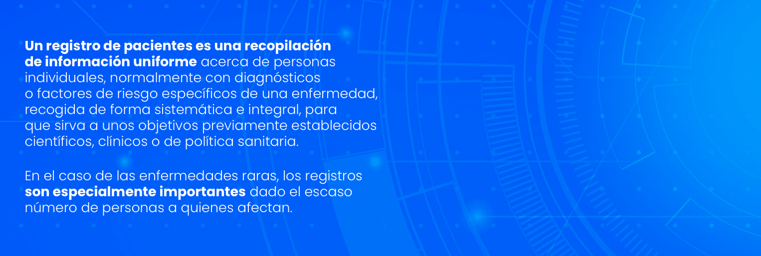 Registro de pacientes web ONero, detalle