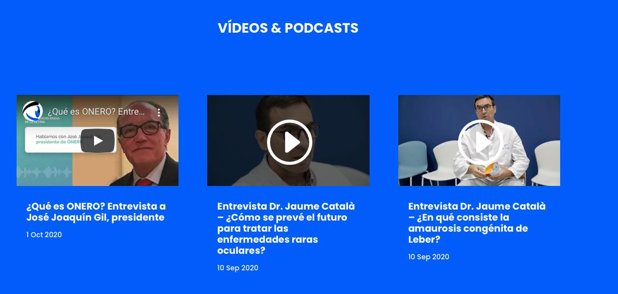 Vídeos y podcast de la asociación