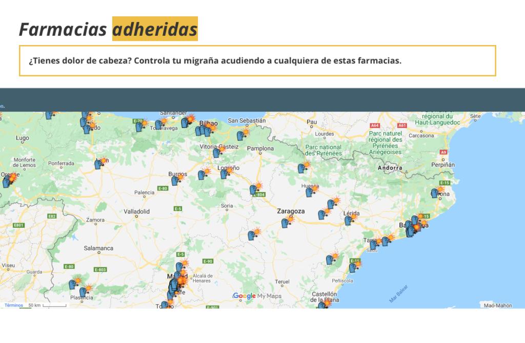Mapa interactivo de farmacias